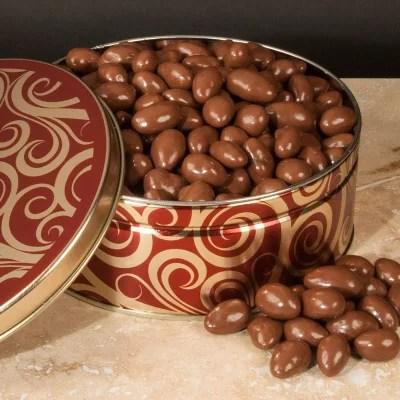 Chocolate Covered Almonds Gift Tin 40 Oz Sams Club