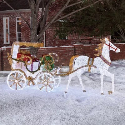 Members Mark Stately Horse And Carriage Outdoor Decor