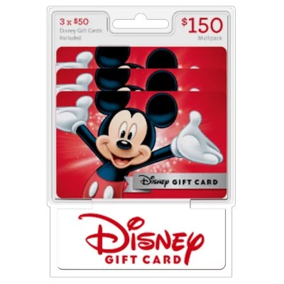 Disney 150 Gift Cards 3 X 50 Sams Club