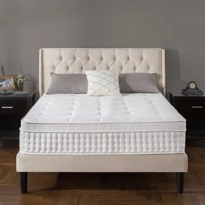 zinus night therapy icoil 13 deluxe euro box top spring mattress queen
