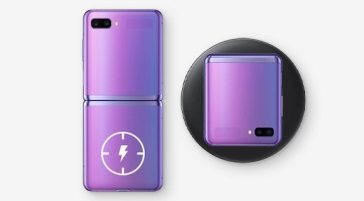 image of charging Galaxy Z Flip device