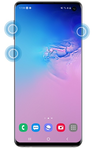 Factory reset with buttons on a Galaxy S10