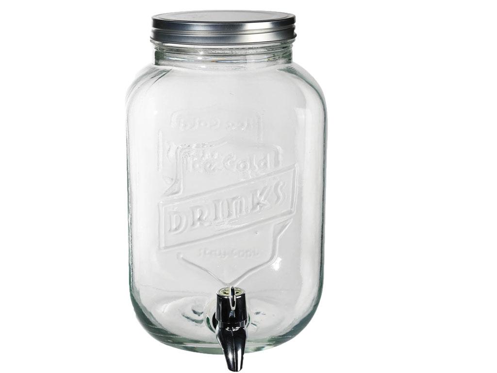 35L GLASS DRINK DISPENSER JAR COCKTAIL BEVERAGE WATER