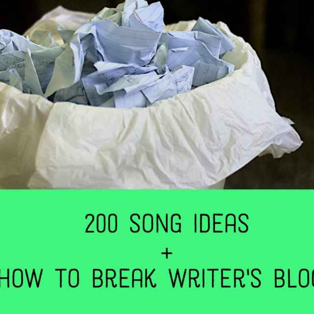 13 Things to Write a Song About: Lyric Ideas and Inspiration