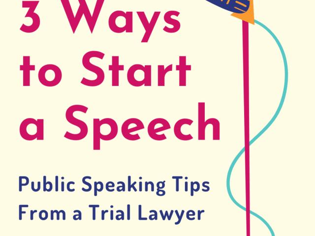 Three Powerful Ways to Start a Speech - ToughNickel