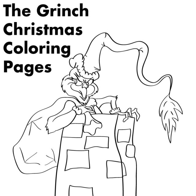 Grinch Christmas Printable Coloring Pages - Holidappy