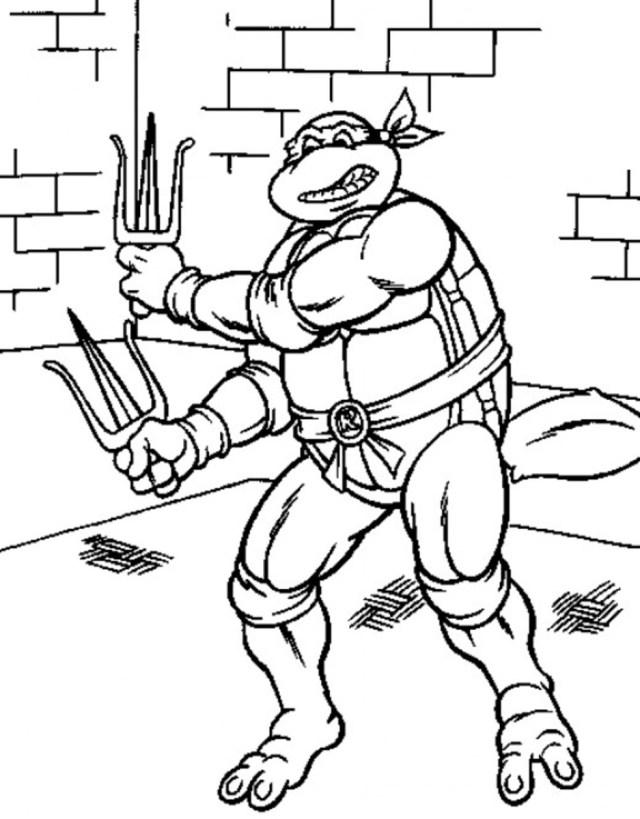 Teenage Mutant Ninja Turtles Printable Coloring Pages - FeltMagnet
