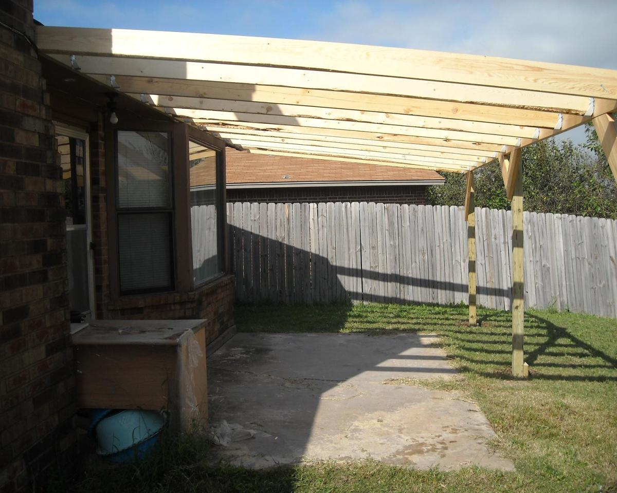 how to build a patio cover with a
