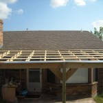 How To Build A Patio Cover With A Corrugated Metal Roof Dengarden Home And Garden