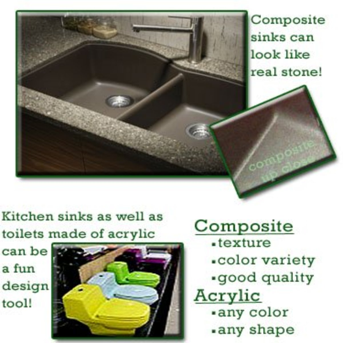 what is my kitchen sink made of