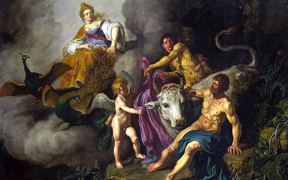 Juno Discovering Jupiter with Io by Pieter Lastman, 1618