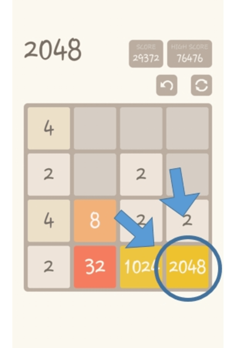 how to play 2048 levelskip