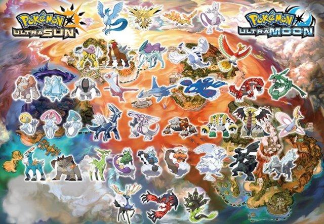 "Pokémon Ultra Sun and Ultra Moon"": Legendary Pokémon Locations"