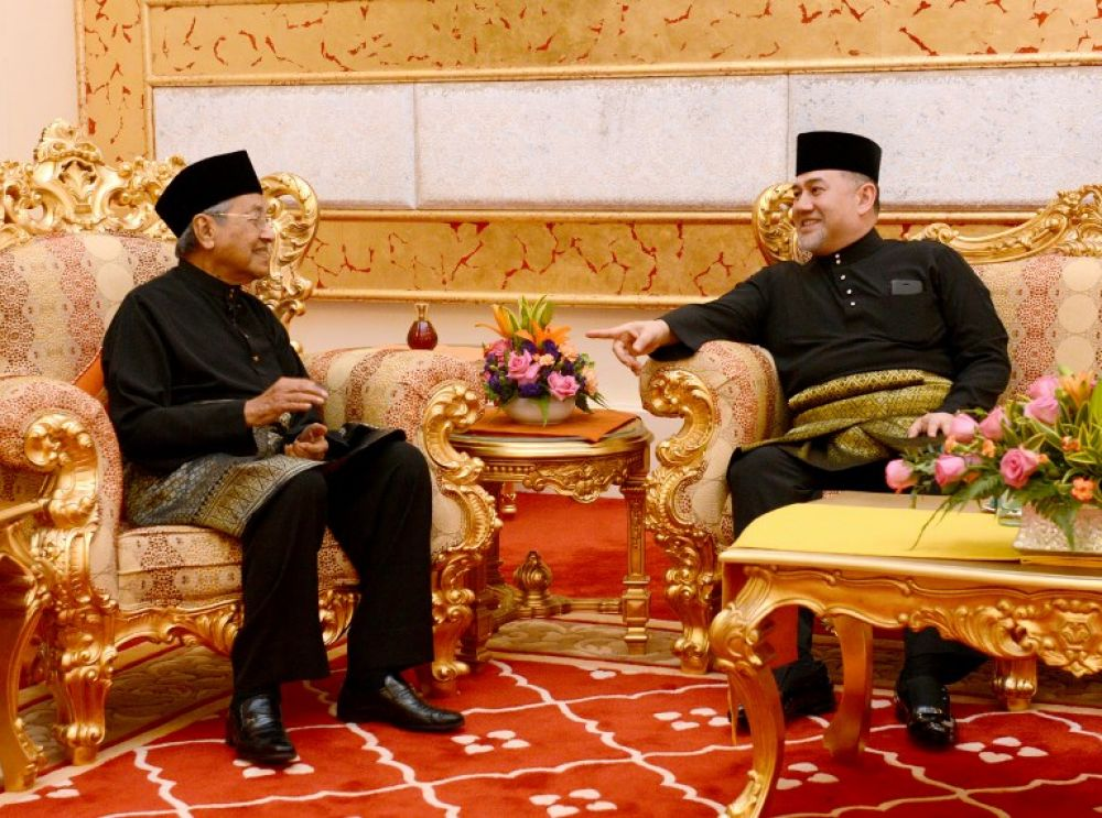 Image result for The Agong  and Dr. Mahathir