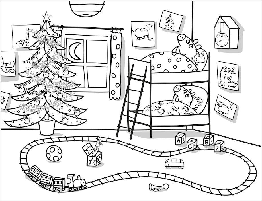 peppa pig christmas artist pad scholastic kids club