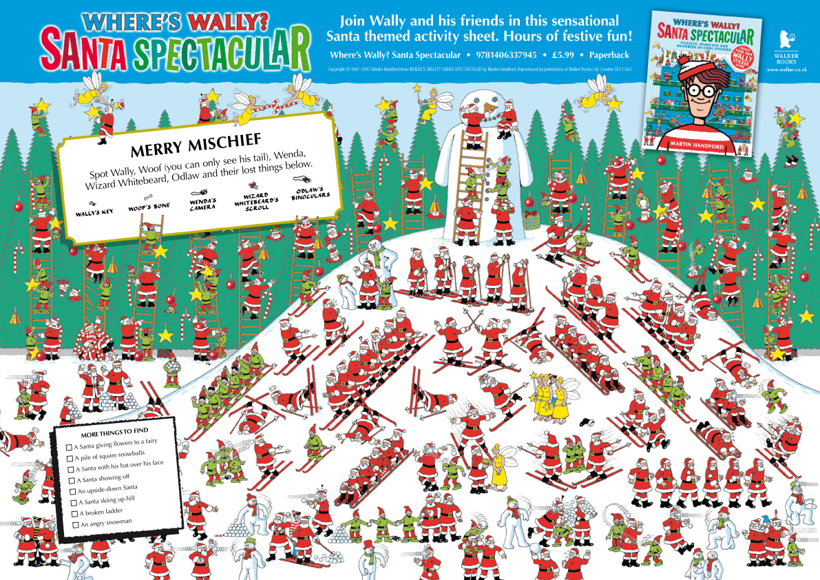 Where S Wally Christmas Puzzle