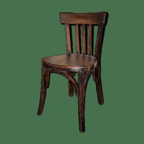 chaise ancienne de bistrot en bois selency