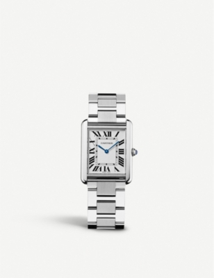 CARTIER   Tank Solo stainless steel watch   Selfridges com CARTIER Tank Solo stainless steel watch