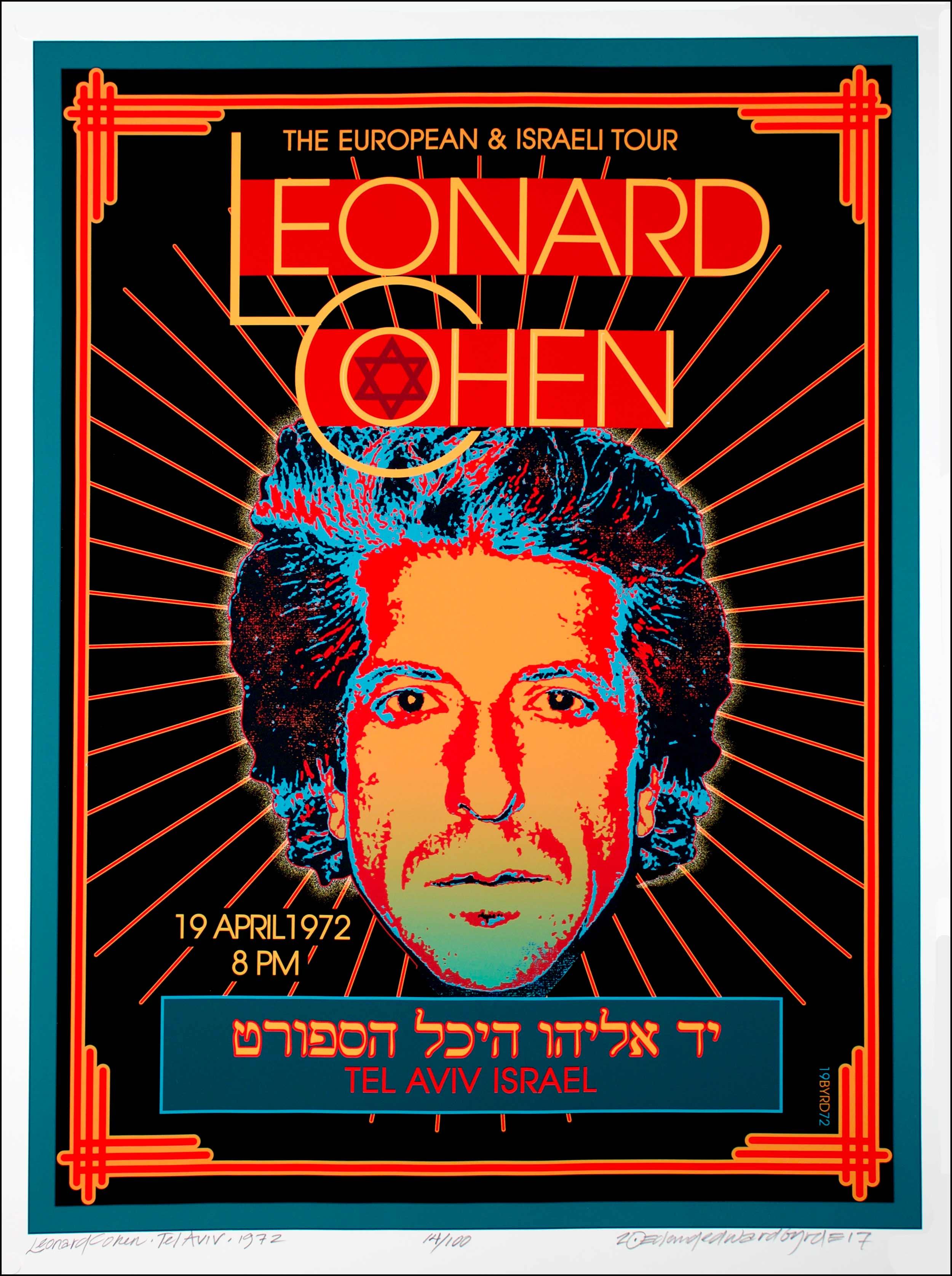 leonard cohen poster tel aviv israel