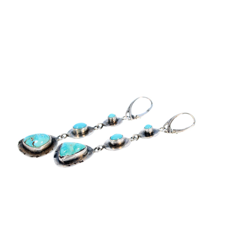 Multi Earrings Style Newworldgems Southwest 3 Turquoise