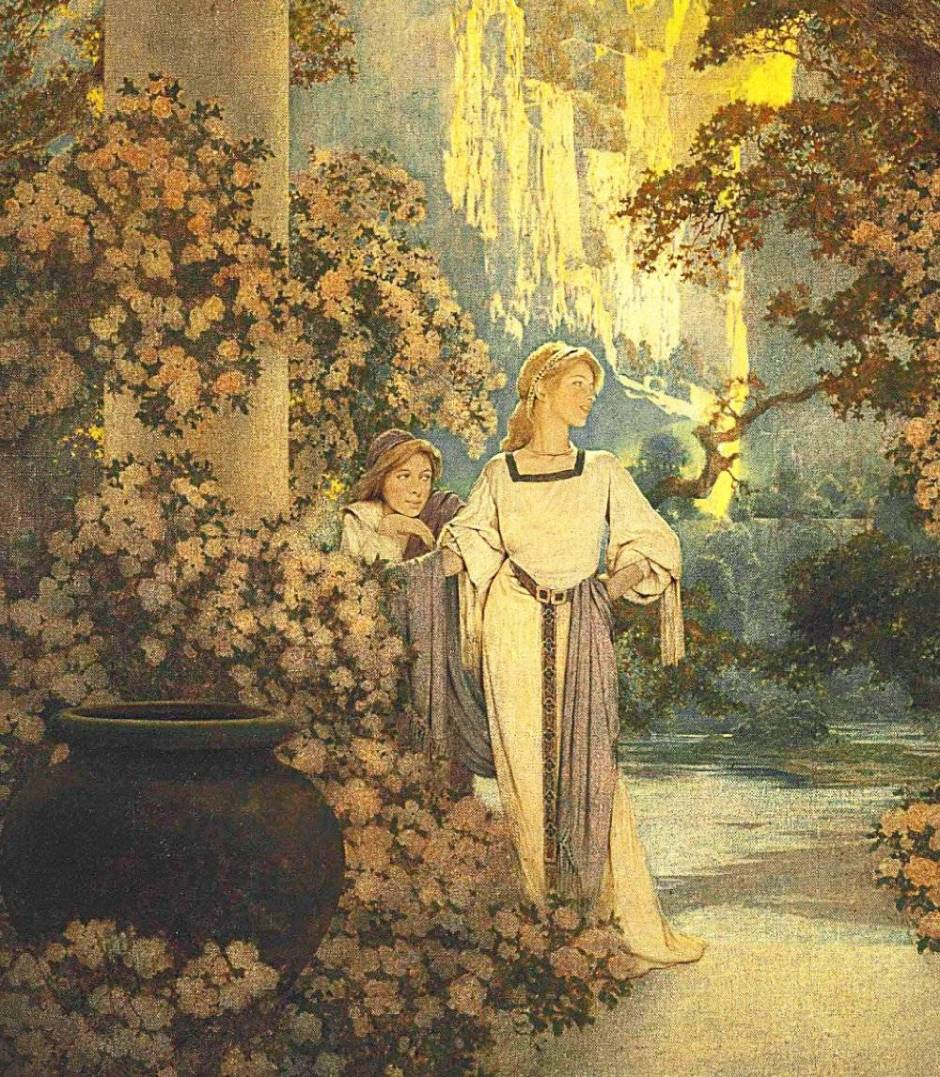 """The Land of Make Believe"""" by Maxfield Parrish 