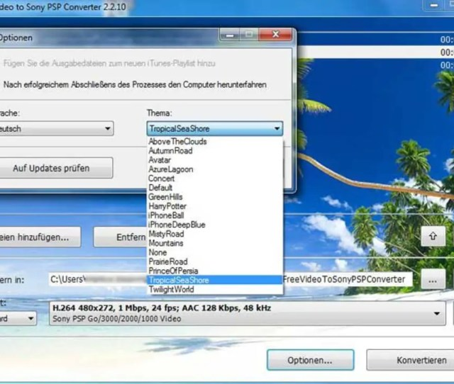 Free Video To Sony Psp Converter 1 6 Screenshots