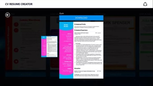 CV Resume Creator   Download Use CV Resume Creator to create the unique CV and get the job of your  dreams