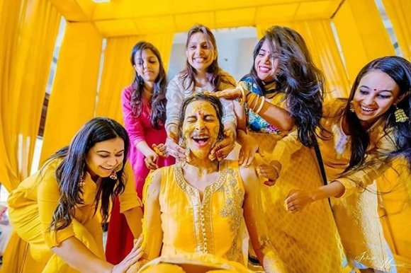 Image result for haldi ceremony