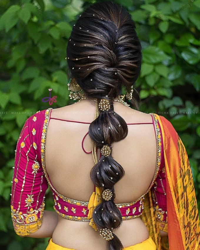 jaw-droppingly pretty hairstyle inspo from south indian