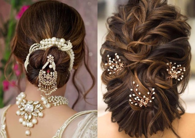 stylish bun accessories to flaunt your hair this wedding