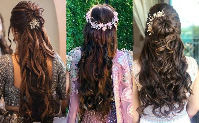 17+ trendiest hairdos to glam up your wedding reception look