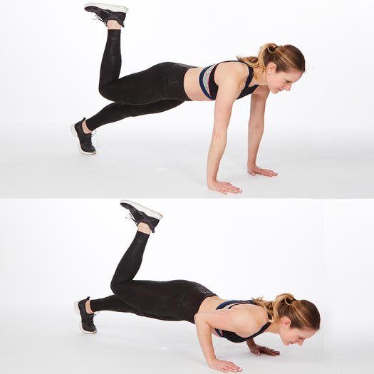 Pilates press back fat exercise at home