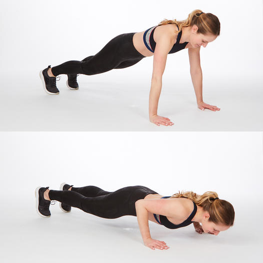 push-up hold best at home back exercises for back fat