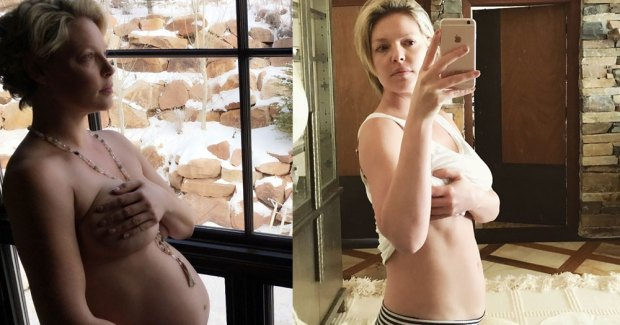 Katherine Heigl Pregnancy Before and After