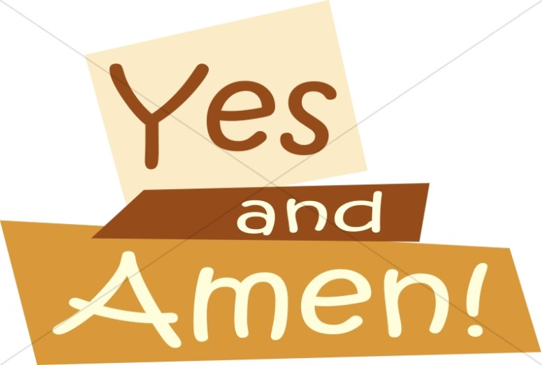 yes and amen inspirational word art