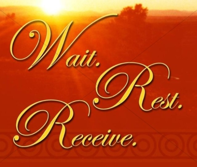 Wait Rest Receive Christian Background