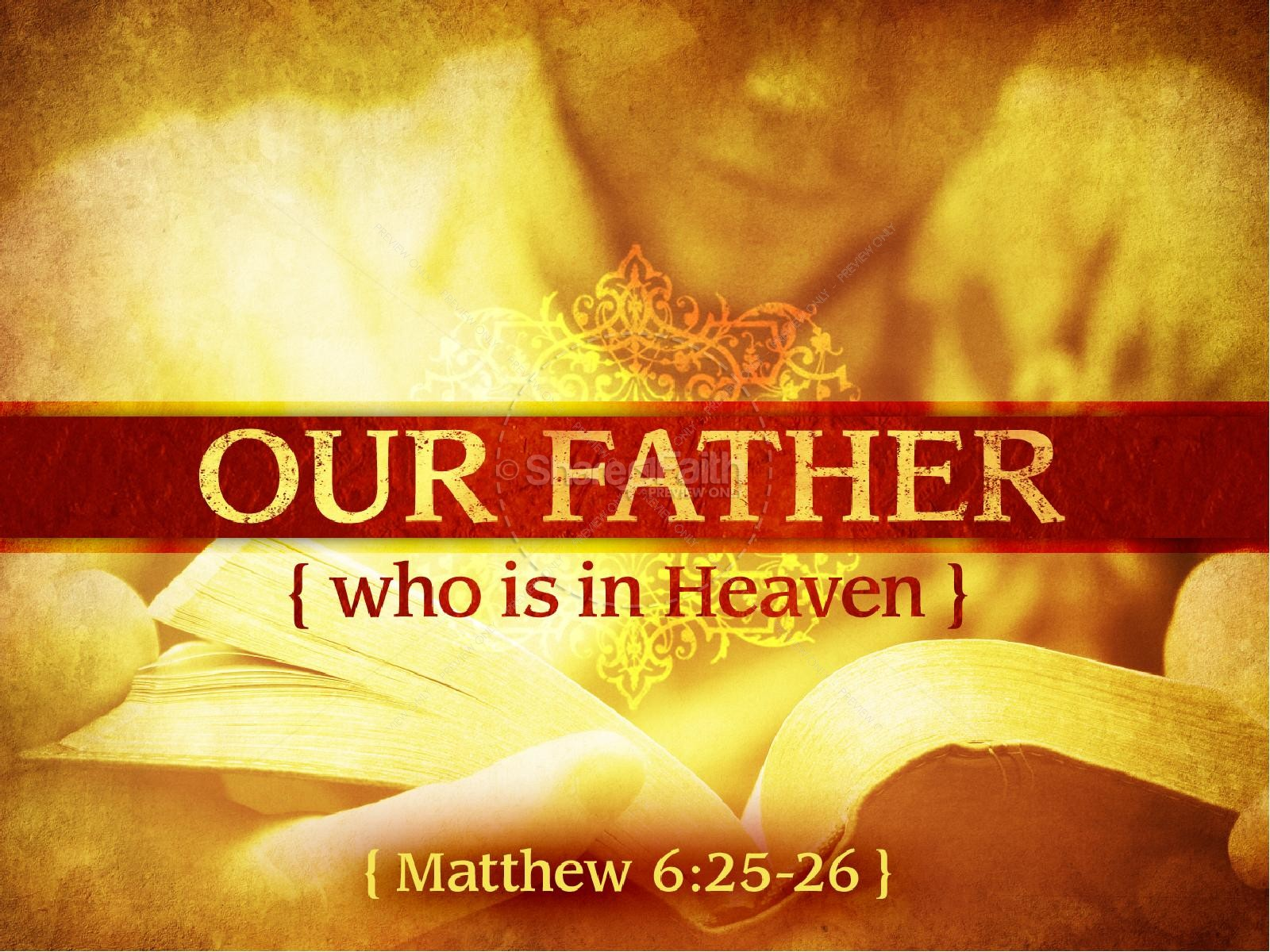 Our Father In Heaven PowerPoint Template Fathers Day