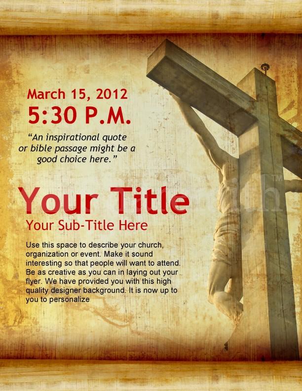 free church flyers templates