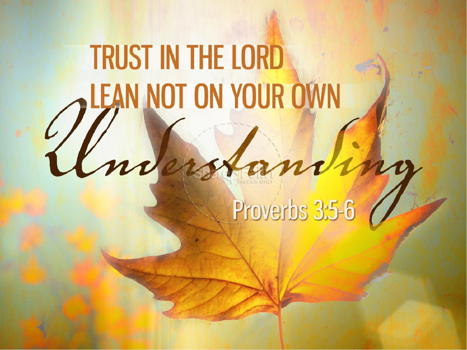 Trust In The Lord Powerpoint Template