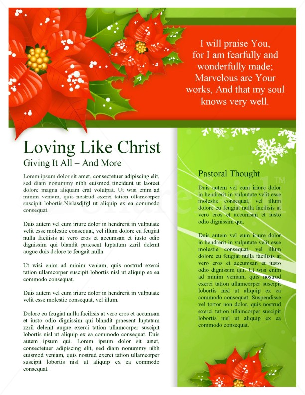 christmas colors newsletter template newsletter templates