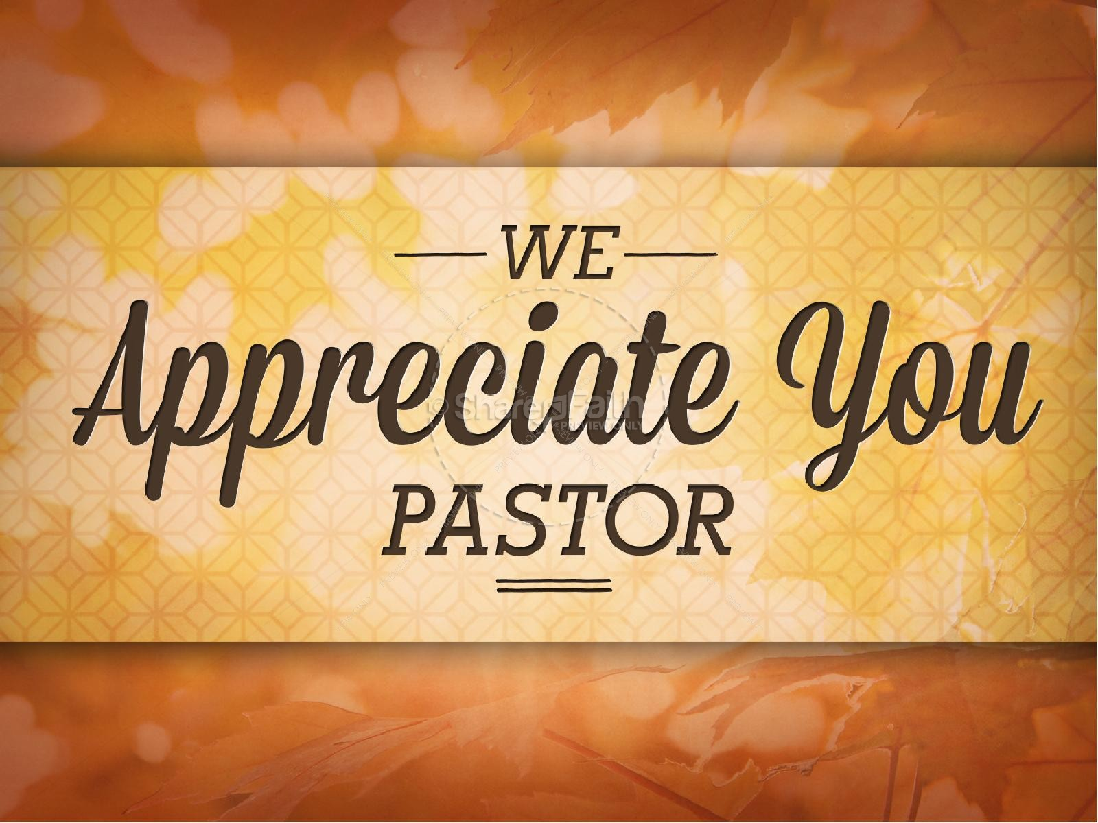 Pastor Appreciation Day Christian PowerPoint Fall