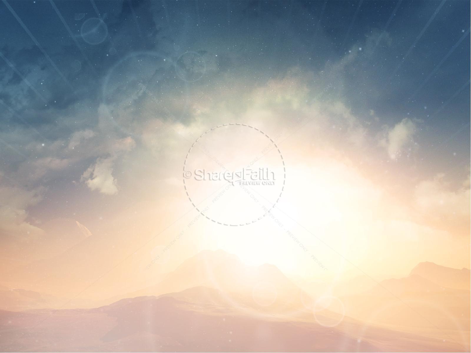 Jesus Risen Savior Easter Graphics Christian PowerPoint