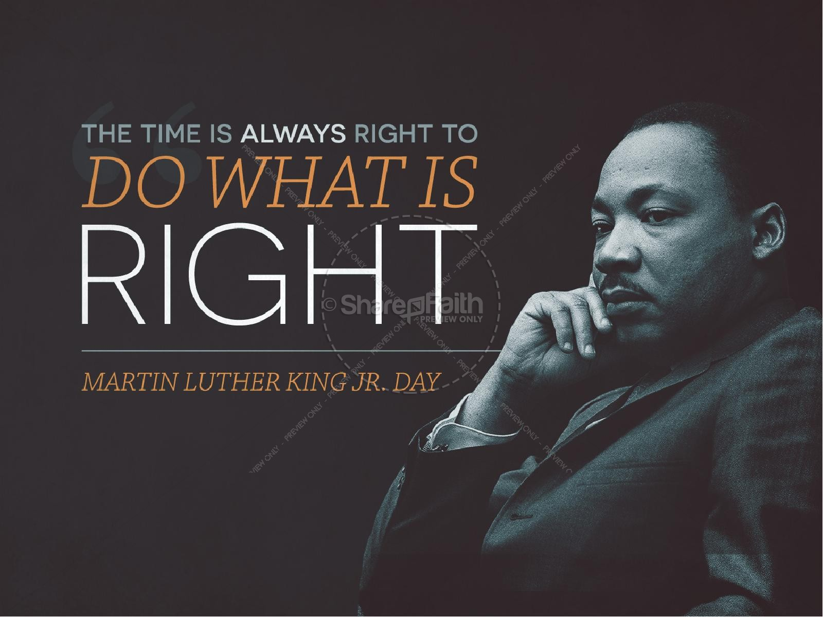 Martin Luther King Jr Day Church Powerpoint