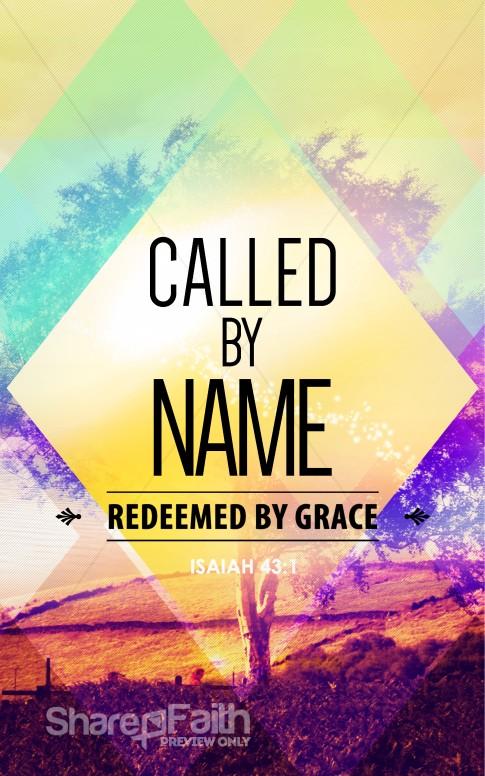 Called By Name Church Bulletin Sermon Bulletin Covers