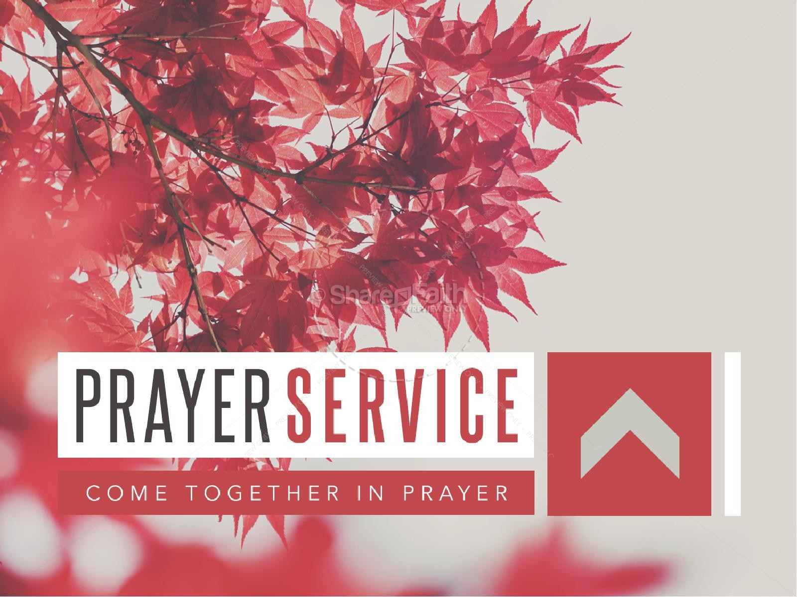 Prayer Service Ministry PowerPoint Fall Thanksgiving