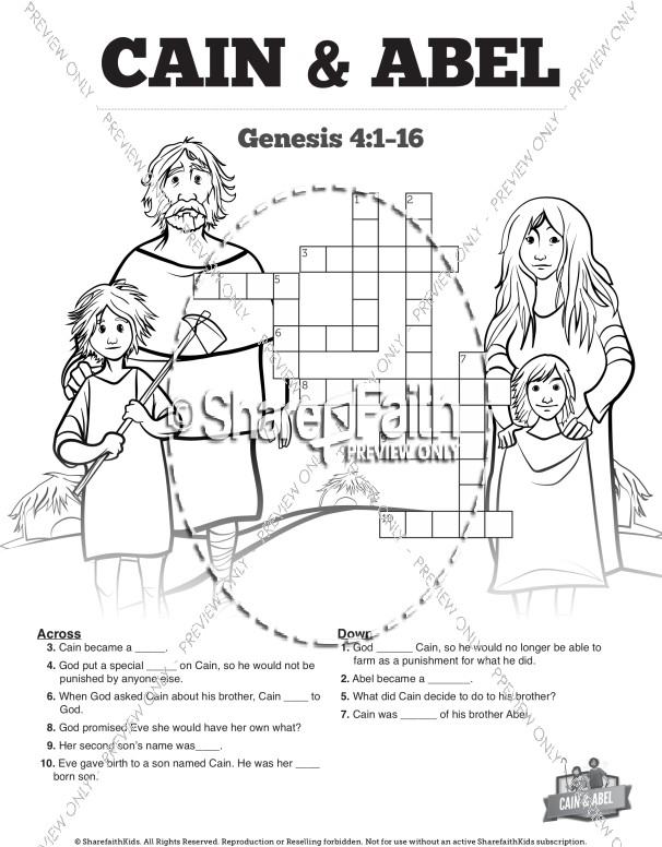Cain And Abel Bible Coloring Pages Sunday School Coloring Pages