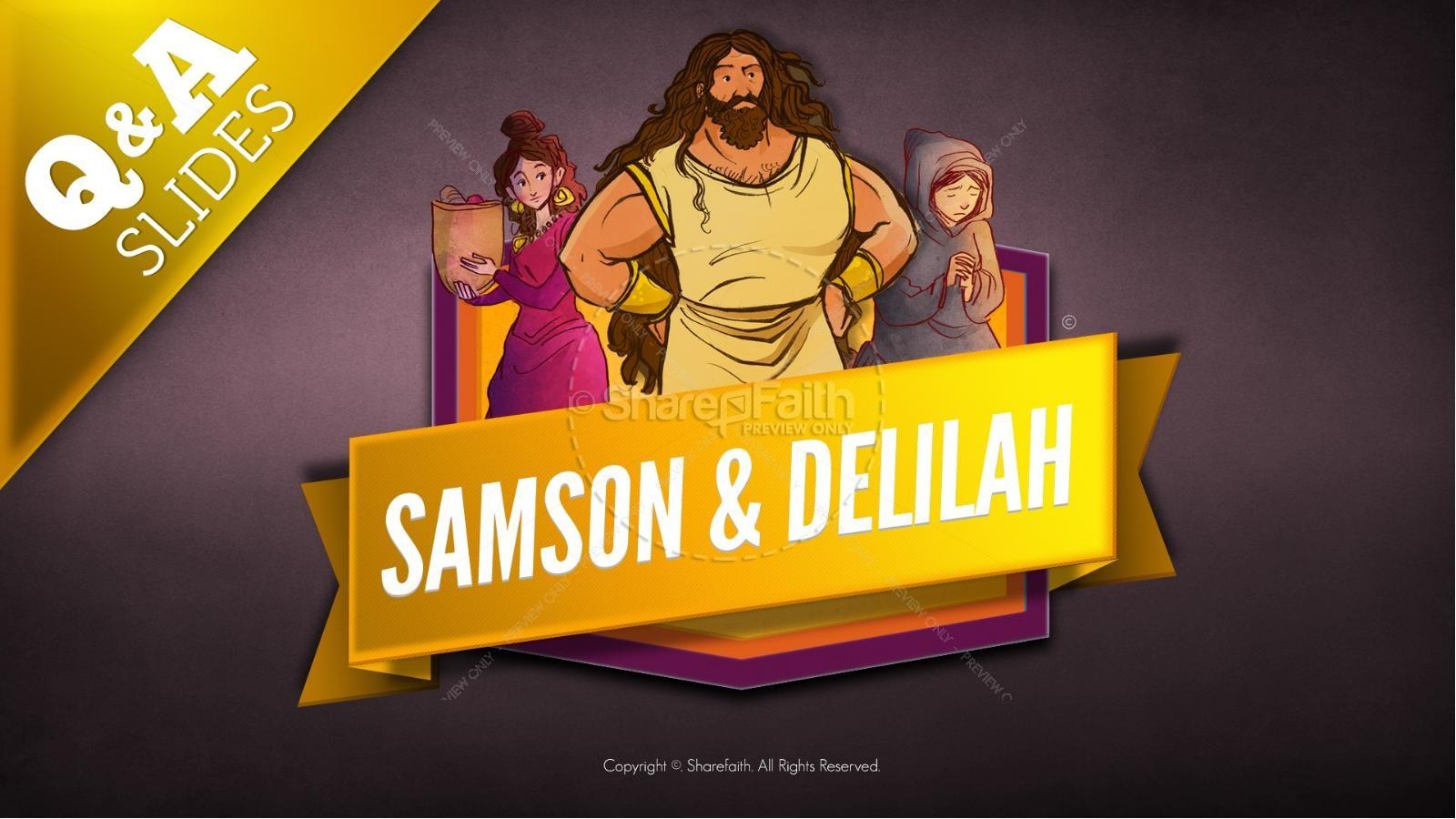 Samson And Delilah Kids Bible Stories