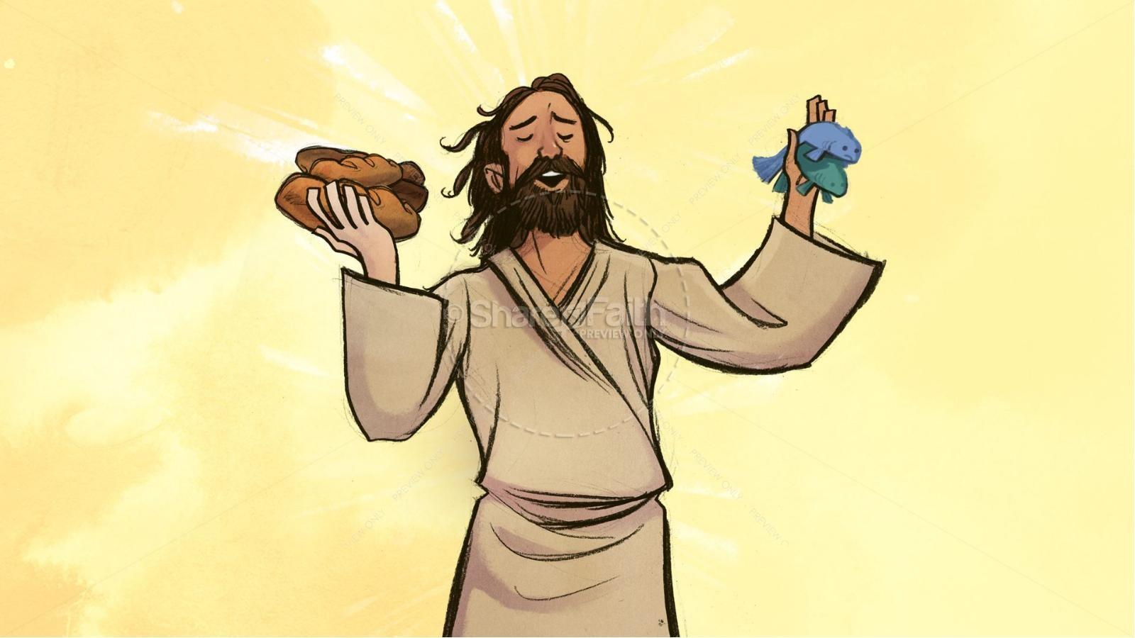 Jesus Feeds Kids Bible Story