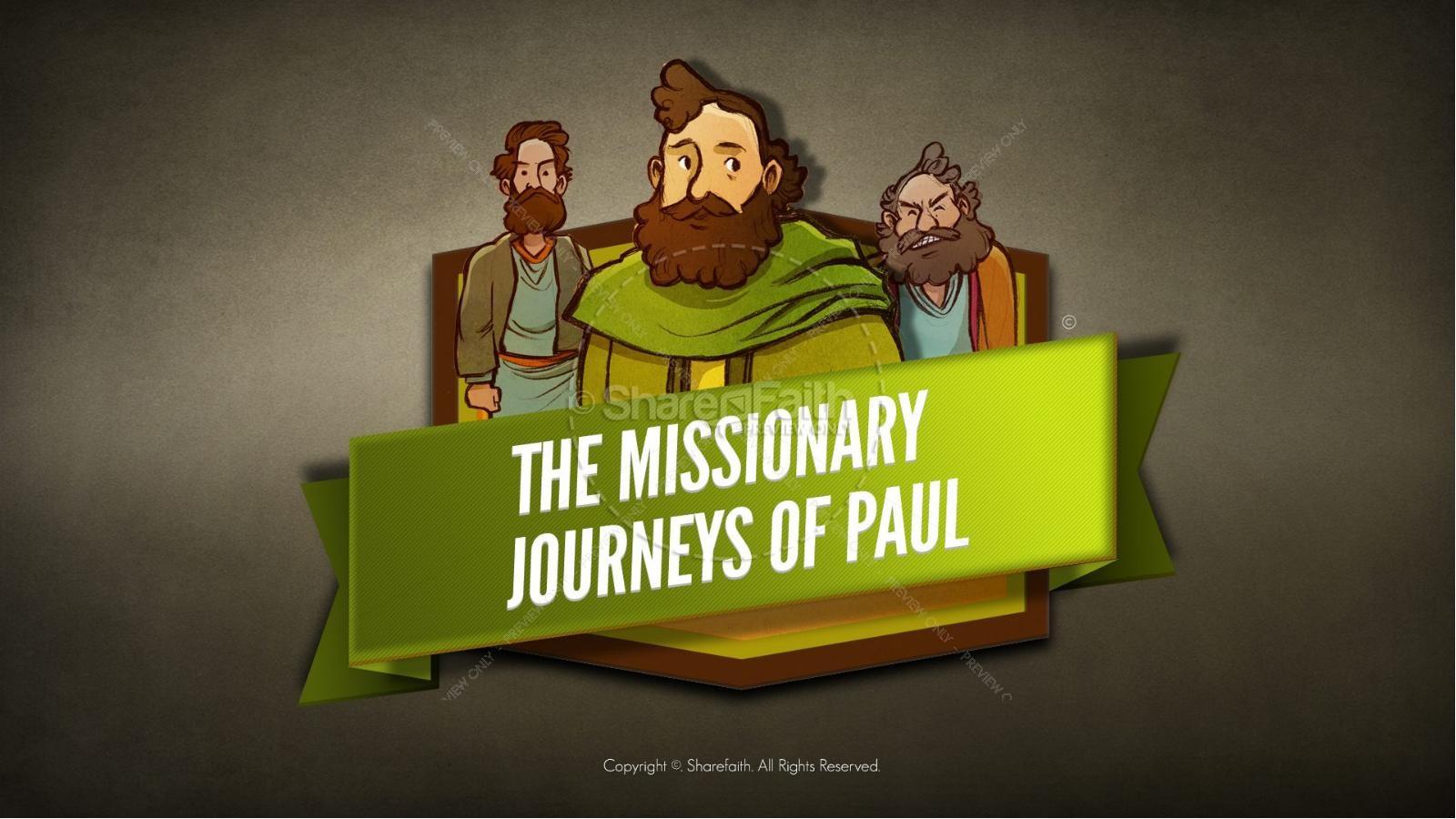 Paul S Missionary Journeys Kids Bible Stories