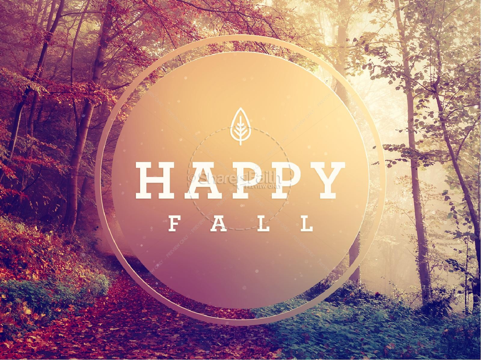 Happy First Day Of Fall PowerPoint Template Fall